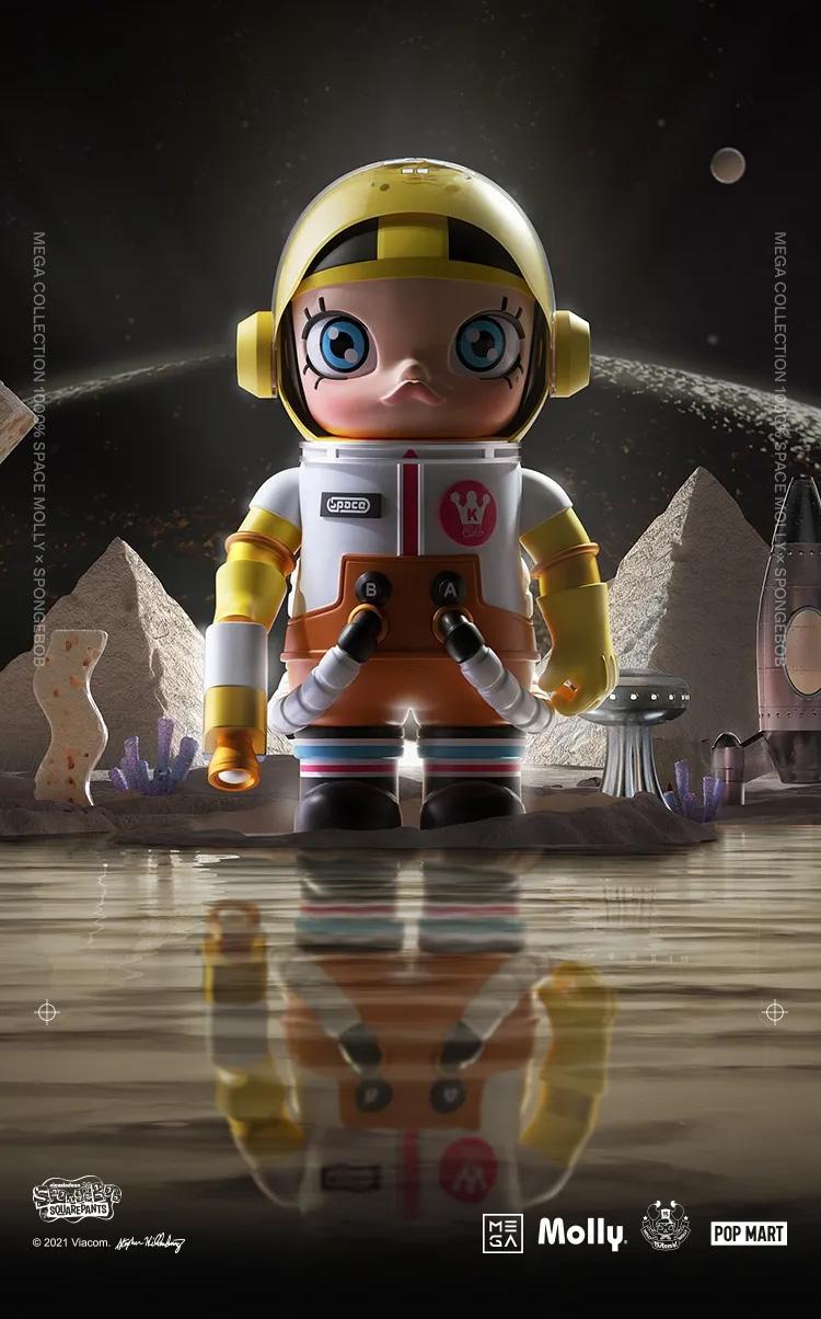 MEGA 珍藏系列,泡泡玛特,400%,Space Moll  抢疯了!400%「Molly x 海绵宝宝」天猫预售链接曝光!周末发售!