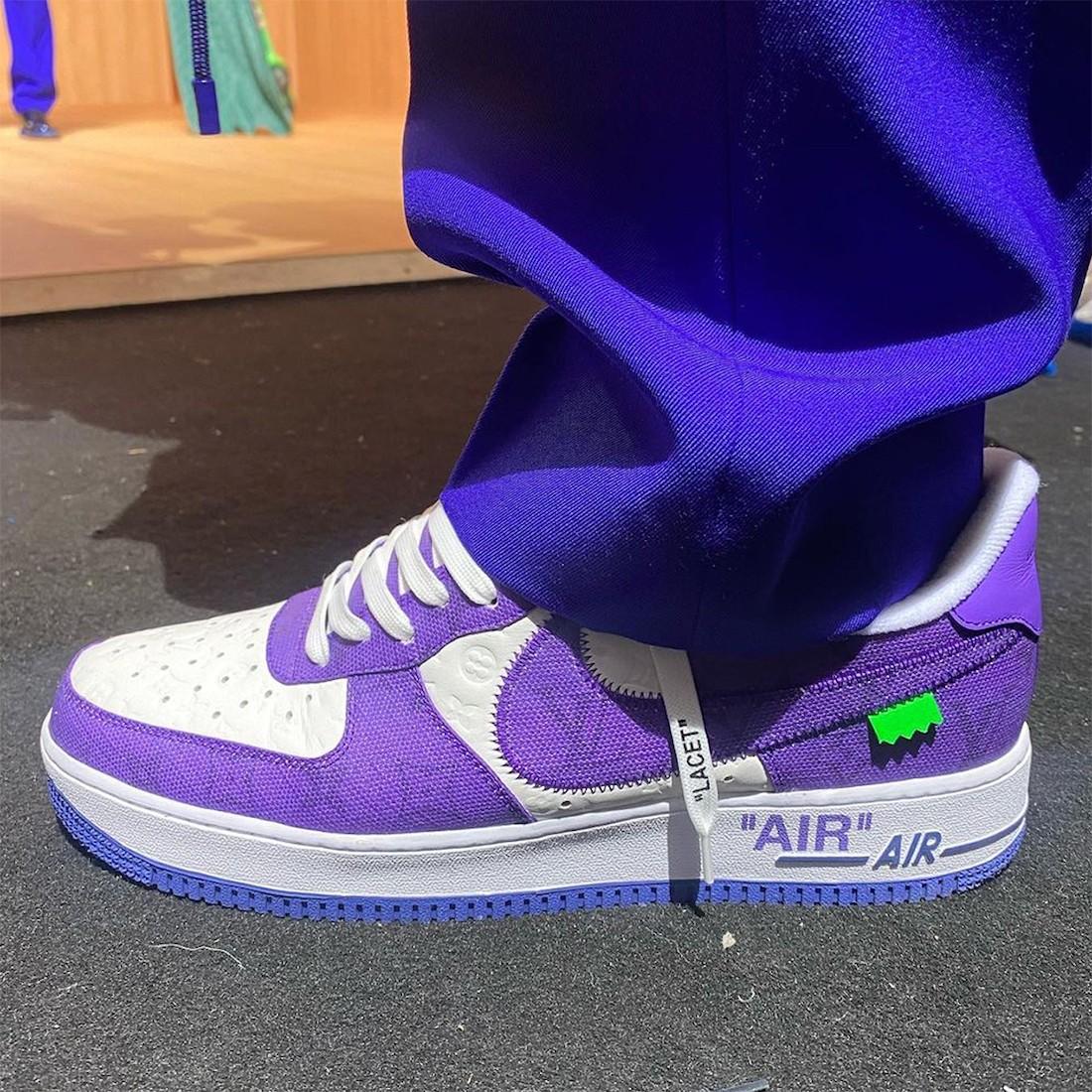 LV,Virgil,Nike,Air Force 1 Low  LV x OW x Nike 联名曝光?实物看完一言难尽!网友:就这?