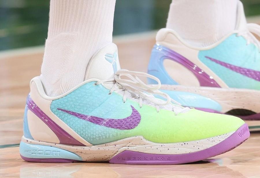 NBA,上脚,塔克,保罗,字母哥  科比战靴「永远滴神」!ZK4、ZK6 PE 配色季后赛上脚真多!