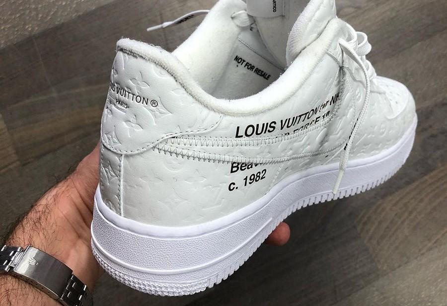 Air Force 1 Low,Nike,Virgil,LV  双鞋舌 + 解构设计!LV x AF1 联名实物曝光!网友:有内味儿了!