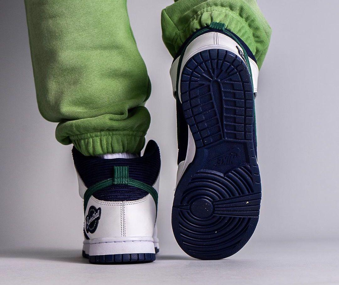 Nike,Dunk Hi,DH0953-400  高规格鞋面!全新 Dunk Hi 上脚图曝光!