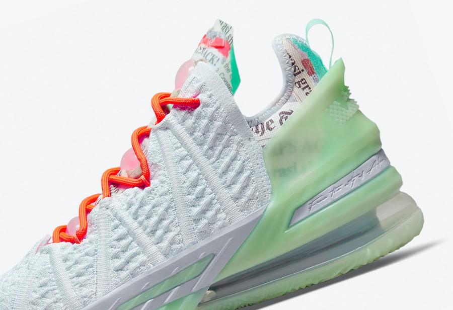 Nike,LeBron 18,CQ9283-401  清新湖水绿!全新配色 LeBron 18 官图曝光!