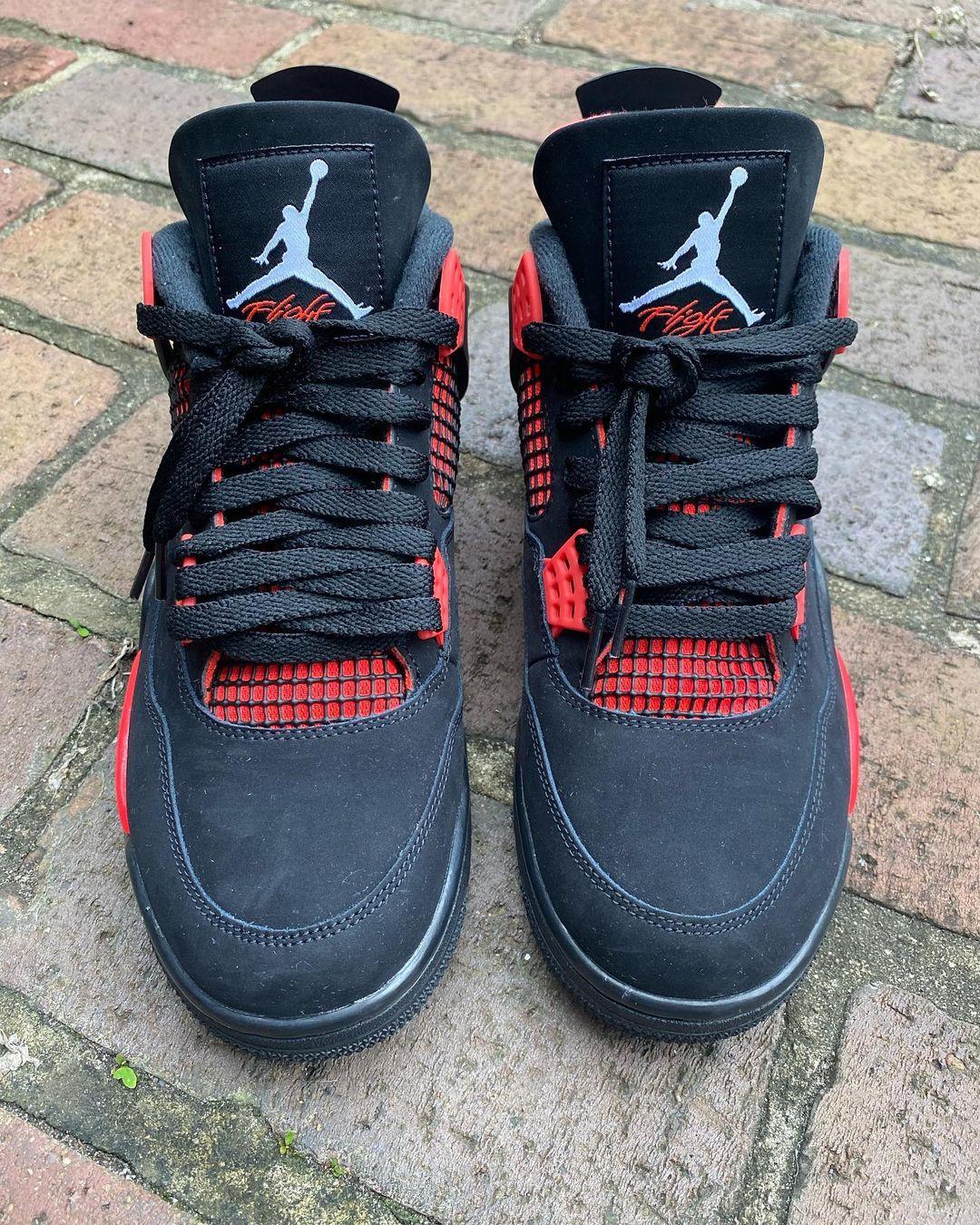 Air Jordan 4,AJ4,发售,CT8527-016  酷似雷公配色!全新黑红 AJ4 实物曝光!这质感真不错!