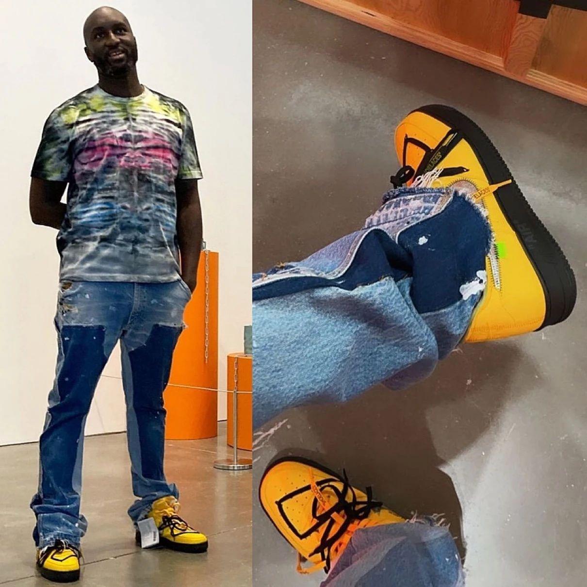Virgil,詹姆斯,OFF-WHITE,Nike,Air  传闻下周发售!Virgil 又晒全新「黄色艺术馆」OW x AF1!