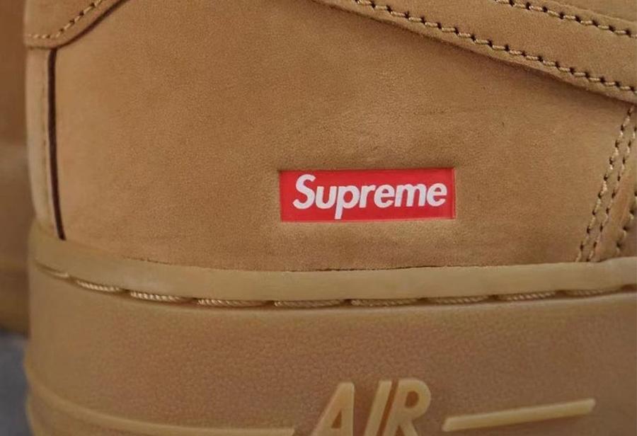 Nike,Supreme,Air Force 1,AF1,  又来盖章了!小麦 Supreme x AF1 实物首次曝光!