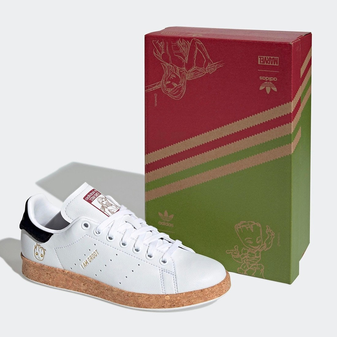 adidas Originals,Marvel,groot,  幼年「格鲁特」可太萌了!漫威 adidas 新联名即将发售!