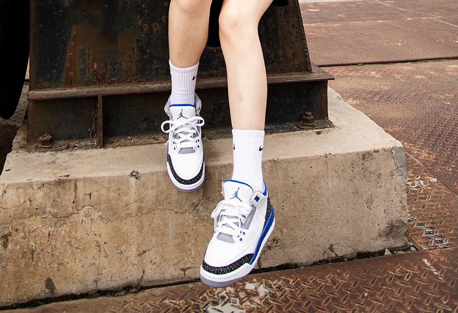 AJ,AJ3,藤原浩,小闪电  腿控福利!小姐姐上脚「小闪电」AJ3!看完谁还惦记藤原浩啊!