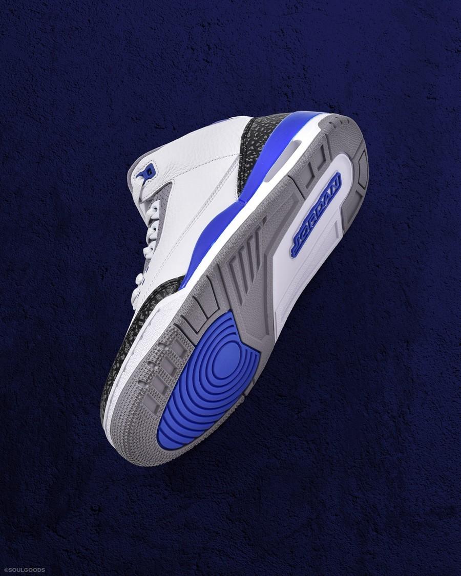 "Air Jordan 3,AJ3,Racer Blue,C  还有线下福利!Air Jordan 3 ""Racer Blue"" 明早全家族尺码发售!"