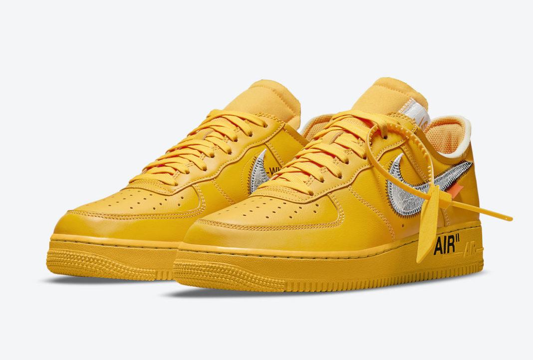 DD1876-700,Nike Air Force 1 Lo  限时登记!SNKRS 突袭!「黄色艺术馆」OW x AF1 刚刚发售!
