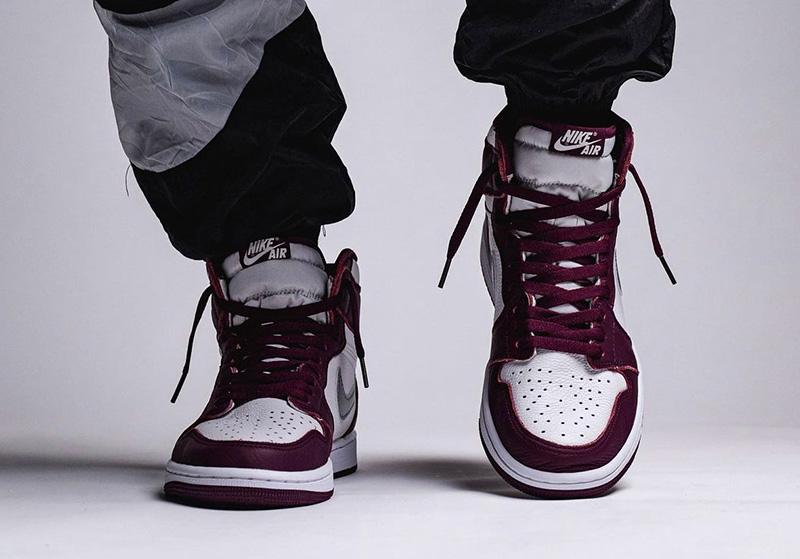 Air Jordan 1 High OG,AJ1,Borde  上脚图来了!经典波尔多配色 Air Jordan 1 确定年底发售!