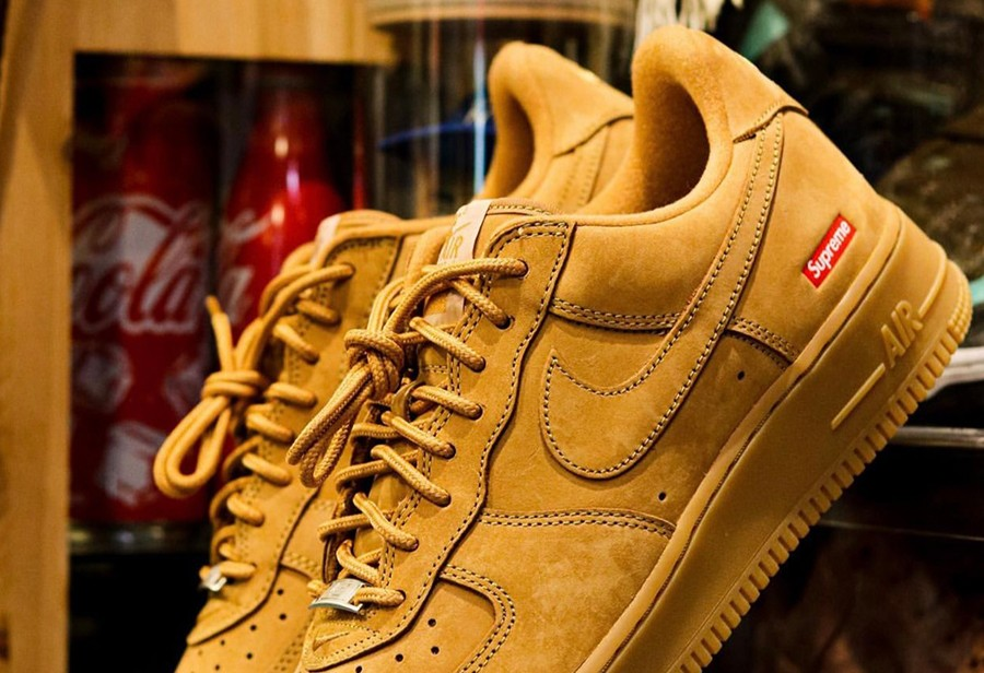 Supreme,Nike Air Force 1 Low  小麦配色!全新 Supreme x AF1 实物曝光!