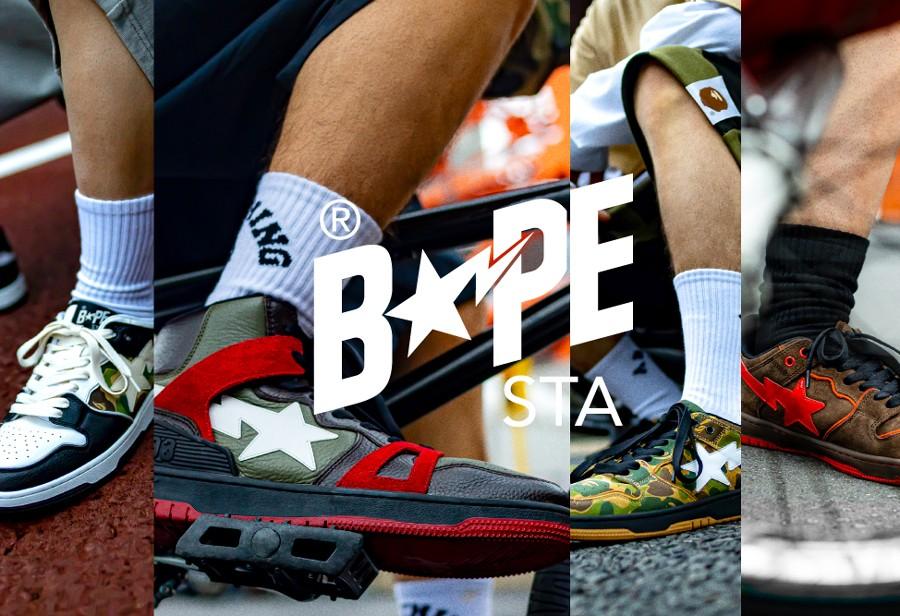 BAPE,BAPE STA™  一款比一款帅!BAPE STA 新鞋型今早刚刚发售!