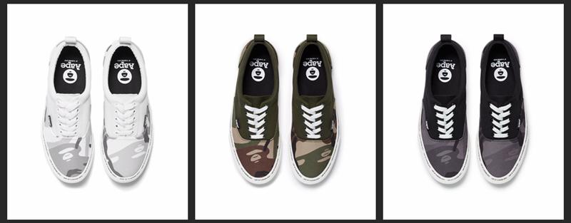 AAPE,SLIPPER,OASIS  经典迷彩元素!AAPE 2021 夏季系列鞋款刚刚上架!