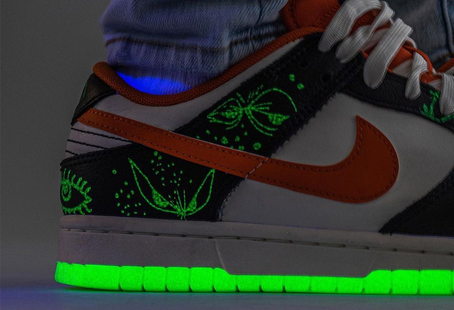 Nike,Dunk Low,Halloween,DD0357  「吓人」细节超多!全新「万圣节」 Dunk Low 上脚图曝光!