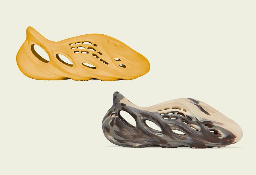 adidas,Yeezy,Foam Runner,MX Cr  两款全新 Yeezy 洞洞鞋 8 月发售!建议搭配丝袜头套上脚!