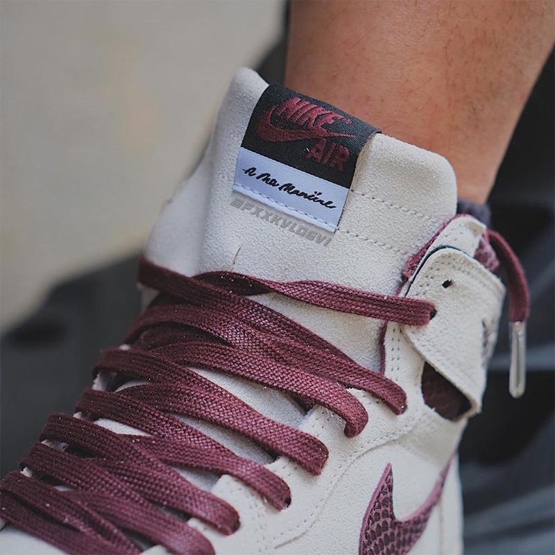 A Ma Maniere,AJ1,Air Jordan 1  上半年「最受欢迎」联名又有新鞋了!全新 AMM x AJ1 实物曝光!