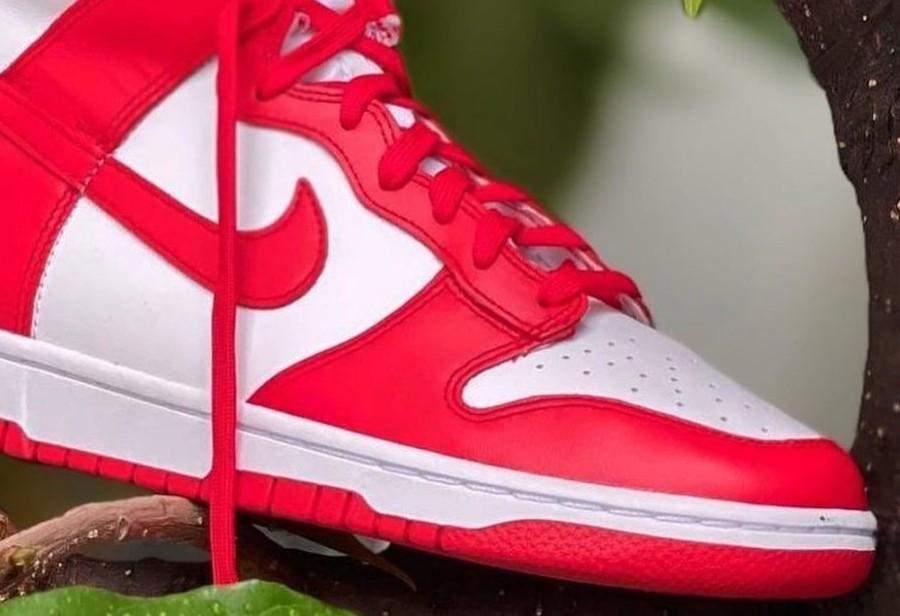 Nike,Dunk High,University Red,  经典「大学红」装扮!全新配色 Dunk High 实物首次曝光!