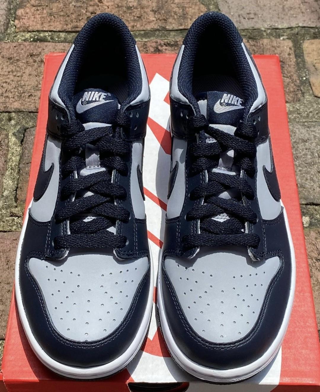 Nike,Dunk Low,Georgetown,CW159  简约又高级!「海军蓝」Dunk Low 实物曝光!