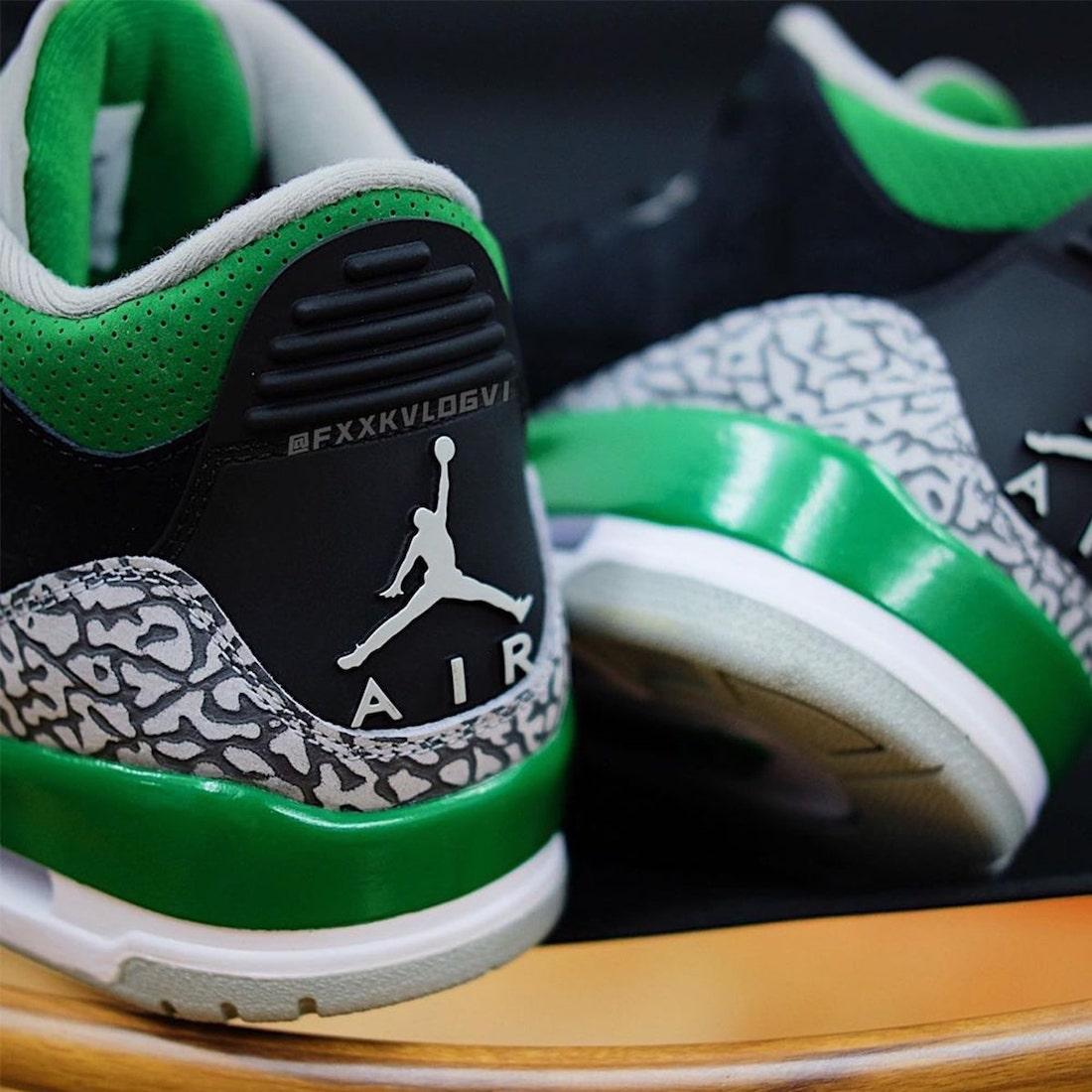Air Jordan 3,Pine Green,CT8532  天价「俄勒冈」配色!全新 AJ3 上脚图曝光!
