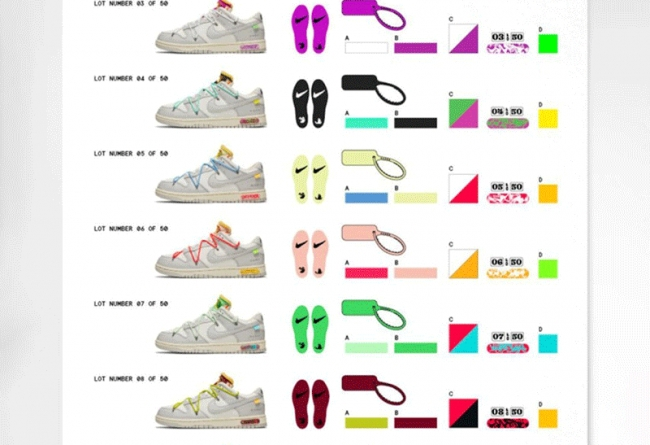 OFF-WHITE,OW,Nike,Dunk Low,发售  发售比盲盒还刺激!OFF-WHITE x Dunk 发售详情曝光!