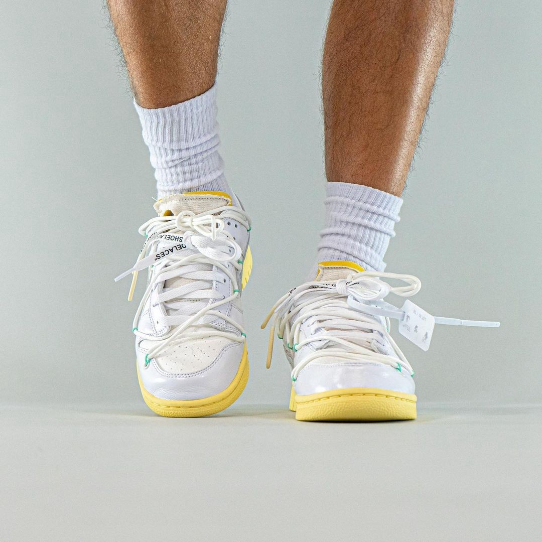 OFF-WHITE,Nike,Dunk Low,The 50  坐等突袭!「Vibe 风」OW x Dunk 最新上脚图曝光!