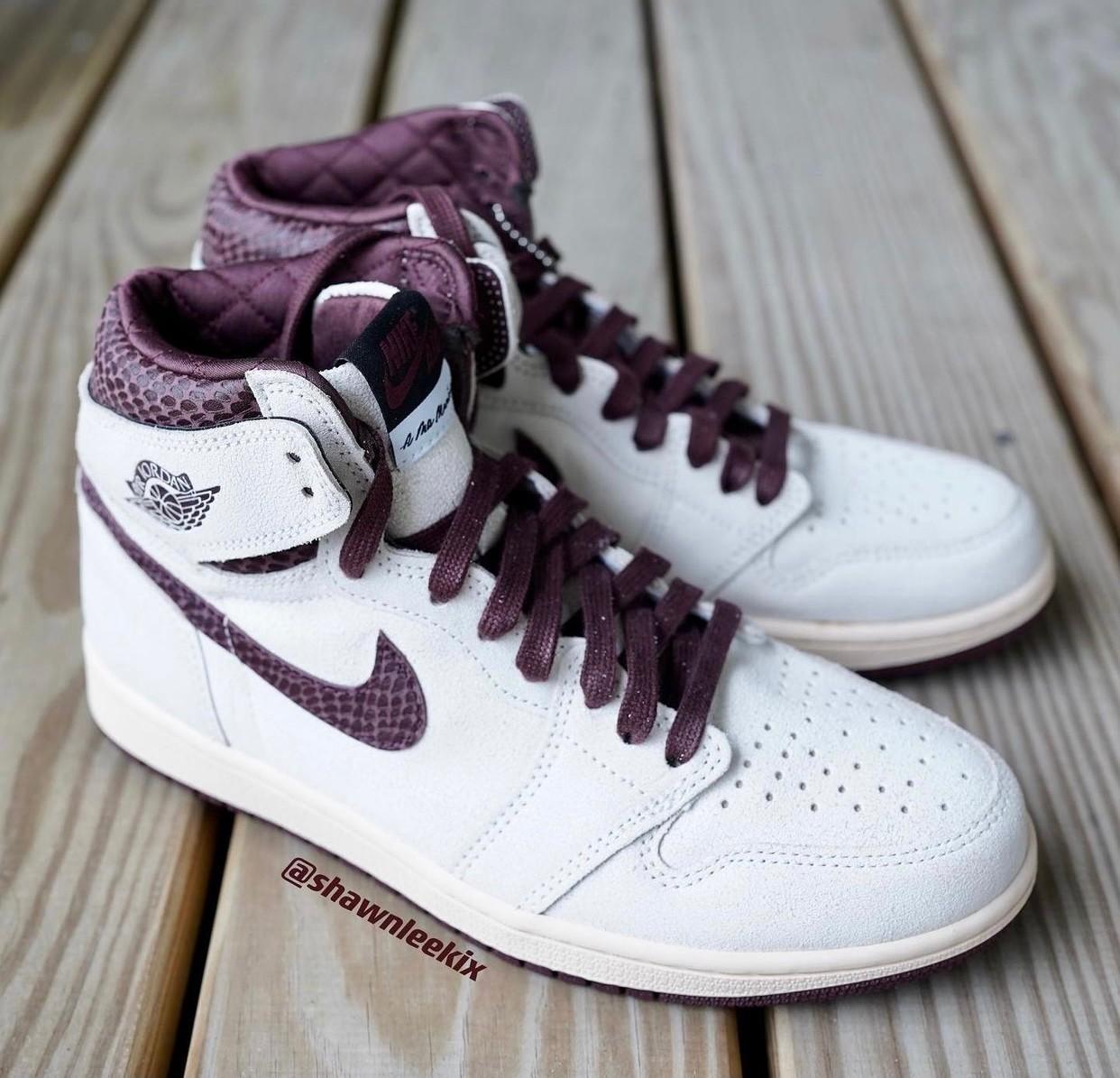 A Ma Maniére,Air Jordan 1,AJ1,  上半年最佳联名又出更狠新鞋!全新 AJ1 质感绝了!
