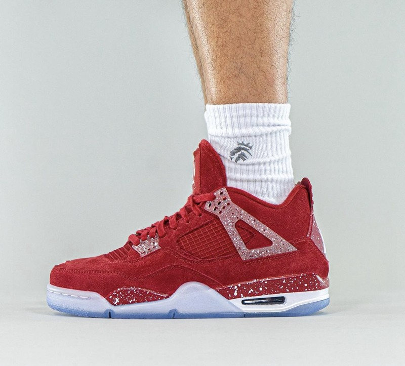 Air Jordan 4 PE,俄克拉荷马大学,Jordan  有钱未必买得到!超稀有 AJ4 PE 实物上脚曝光!