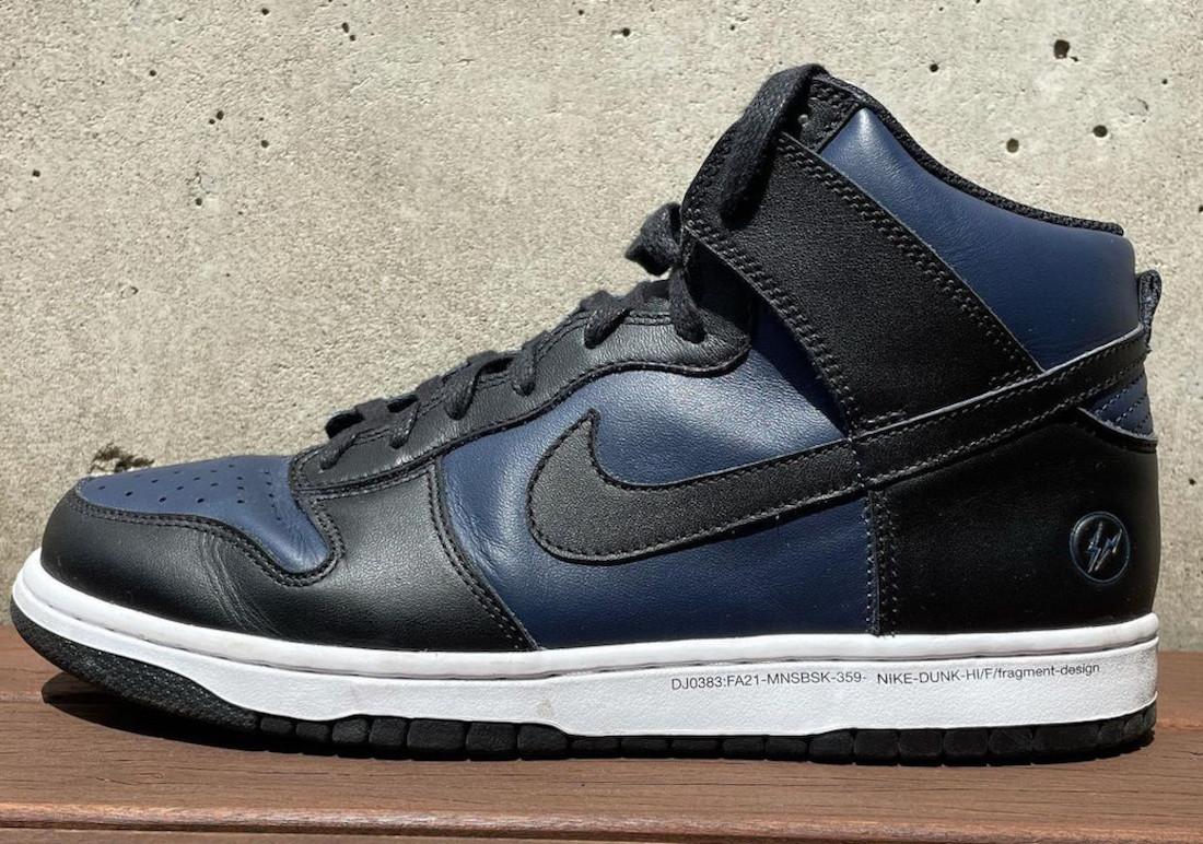 fragment design,Nike,Dunk High  藤原浩晒全新闪电 Nike 联名鞋!太简单粗暴了吧...