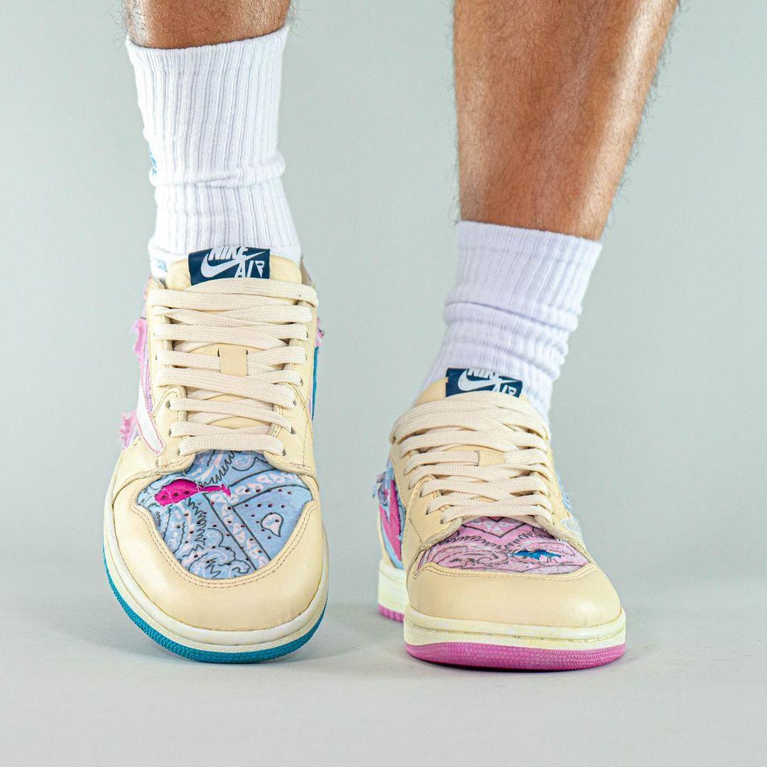 Air Jordan 1,AJ1,发售,Travis Sco  闪电倒钩 AJ1 专属你中了吗?还有没见过的鸳鸯刮刮乐版本!