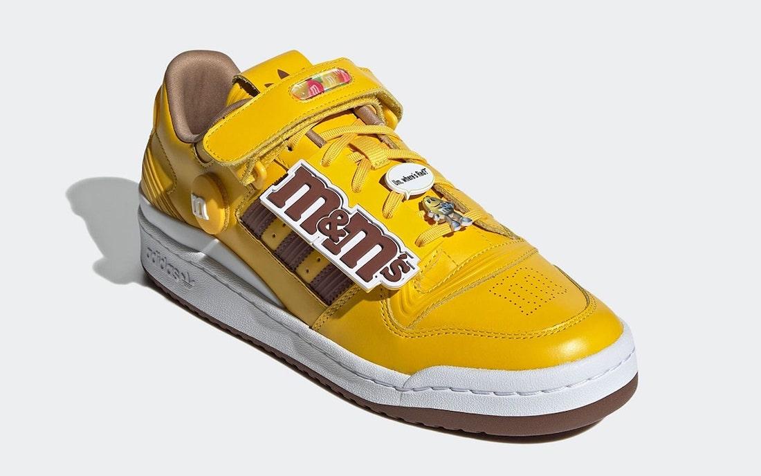 M&M's,adidas,Forum Low,GY1179  特殊鞋盒 + 超多配件!adidas「巧克力豆」联名鞋官图曝光!