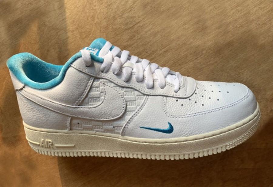 Nike,Kith x Nike,Air Force 1 L  夏日百搭配色!全新 Kith x Nike Air Force 1 实物曝光!