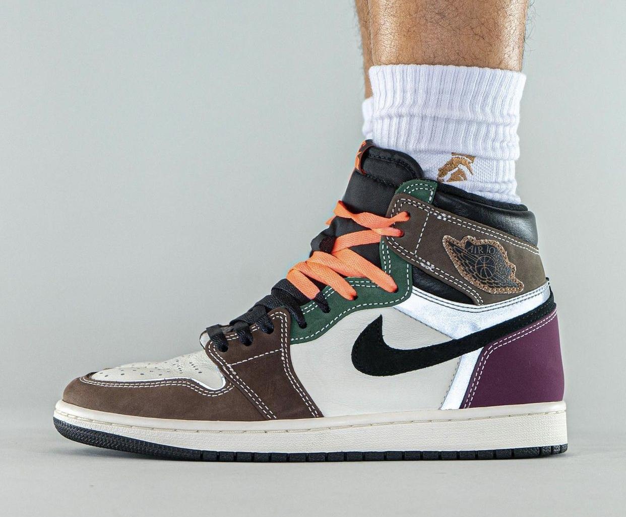 Air Jordan 1 High OG,AJ,AJ1,Ha  「拼接怪」Air Jordan 1 上脚曝光!看完网友直呼:拼接板小倒钩!
