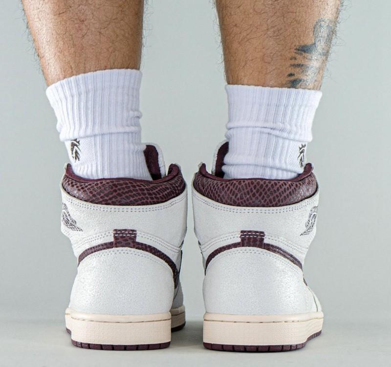 A Ma Maniere,Air Jordan 1 High  奢华气质尽显!全新联名 Air Jordan 1 实物上脚曝光!