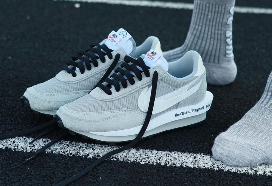 Fragment,sacai,Nike,LDWaffle,发  「闪电 x sacai x Nike」明天发售!看完上脚照更想要了!