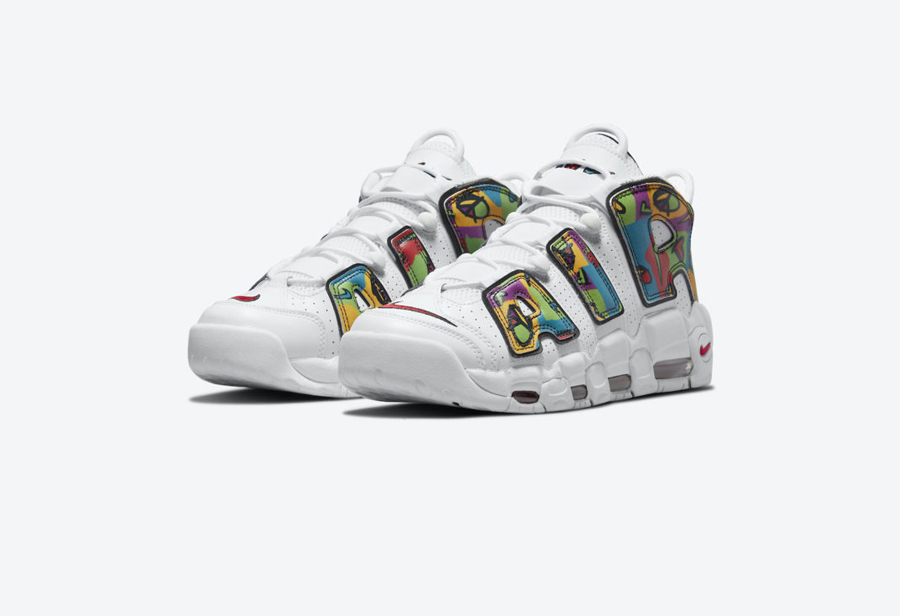 Nike,Air More Uptempo,Peace, L  多彩图形印花!Air More Uptempo 全新配色曝光!