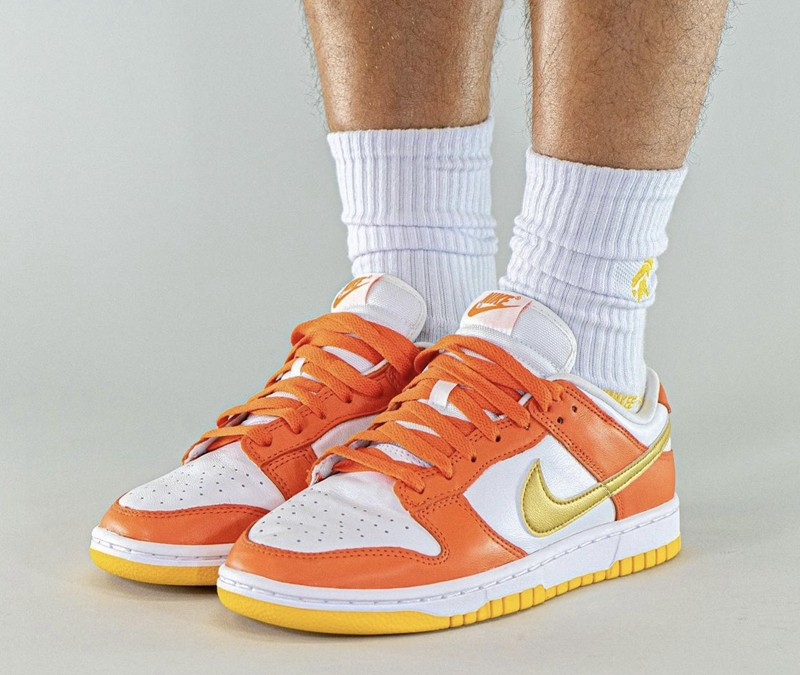 Nike,Dunk Low,Golden Orange  「金钩雪城」Dunk Low 上脚曝光!传闻即将发售!