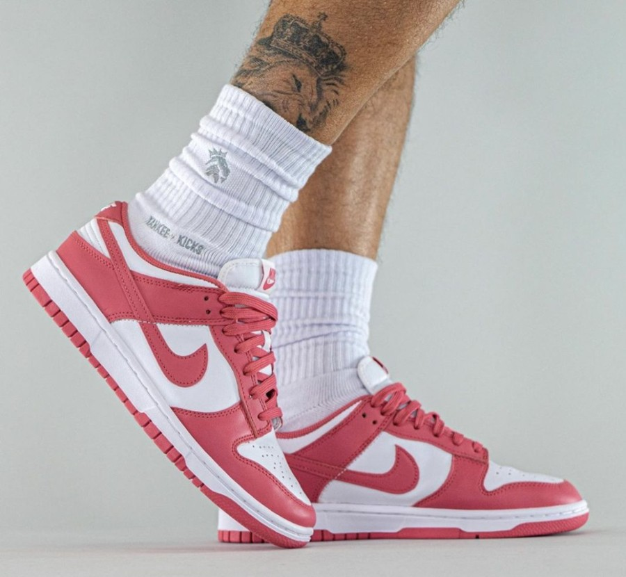 Nike,Dunk Low,Archeo Pink,DD15  白粉装扮!全新配色 Dunk Low 上脚曝光!