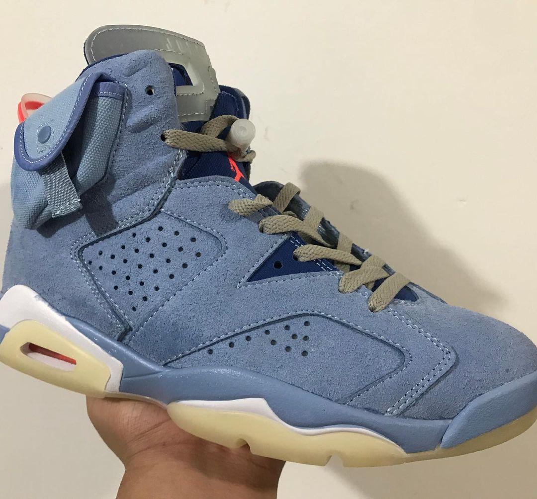 Travis Scott,AJ6,Air Jordan 6  「双兜版」TS x AJ6 全新实物曝光!快发售了?!