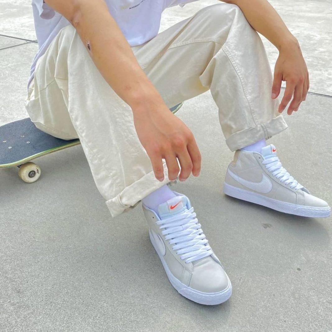 Nike,SB Blazer Mid,Unbleached   颜值担当!全新 Blazer Mid「烟灰色」即将发售!
