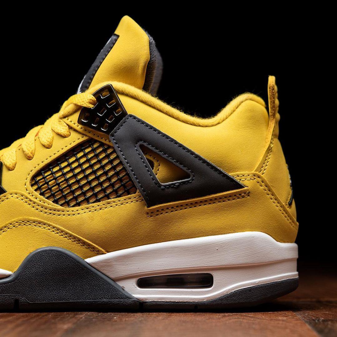Air Jordan 4,CT8527-700,Lightn  万元神鞋回归!全新「电母」AJ4 还是原来的味道!
