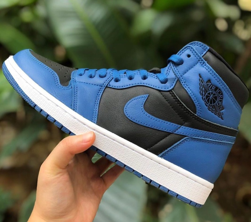 555088-404,Dark Marina Blue,Ai  OG 气质 + 高规格鞋身!「新皇家蓝」AJ1 最新实物曝光!