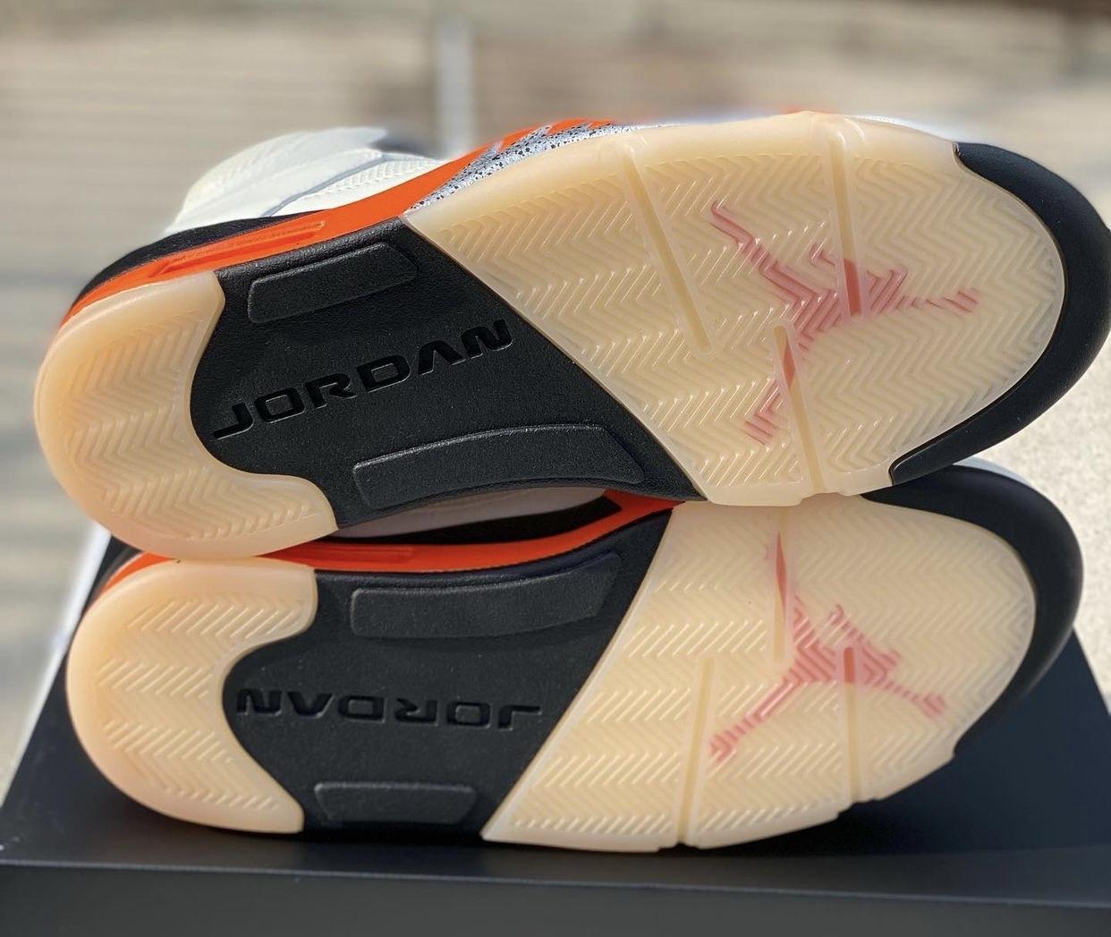 AJ5,Air Jordan 5,DC1060-100  扣碎 Air Jordan 5 实物曝光!自带氧化效果!下月发售!