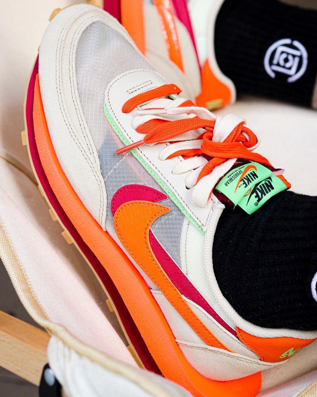 CLOT,sacai,Nike,LDWaffle,发售  冠希晒实物!CLOT x sacai x Nike 正式官宣!下月初发售!