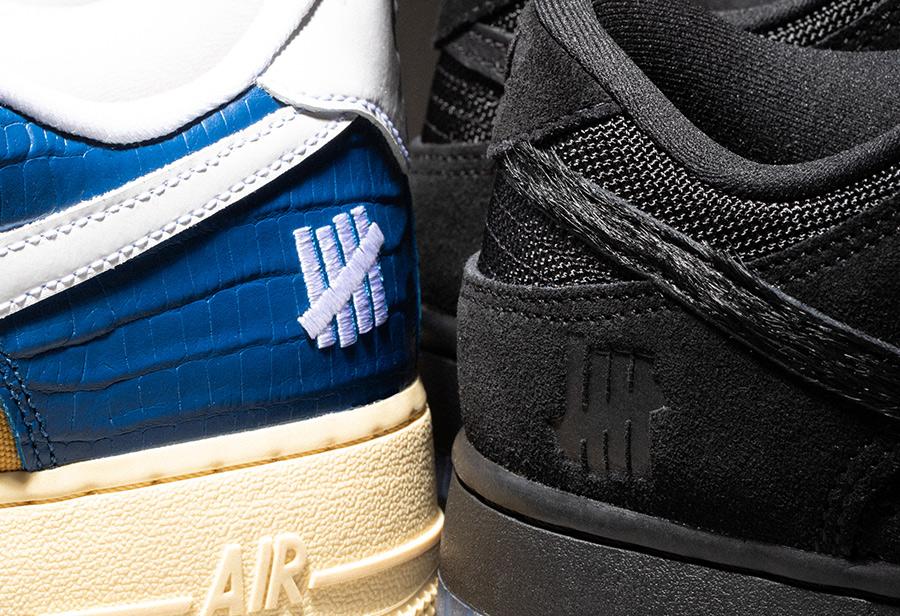 UNDEFEATED x Nike,DUNK vs AF1  两双反差有点儿大!UNDEFEATED x Nike 第三弹正式发布!