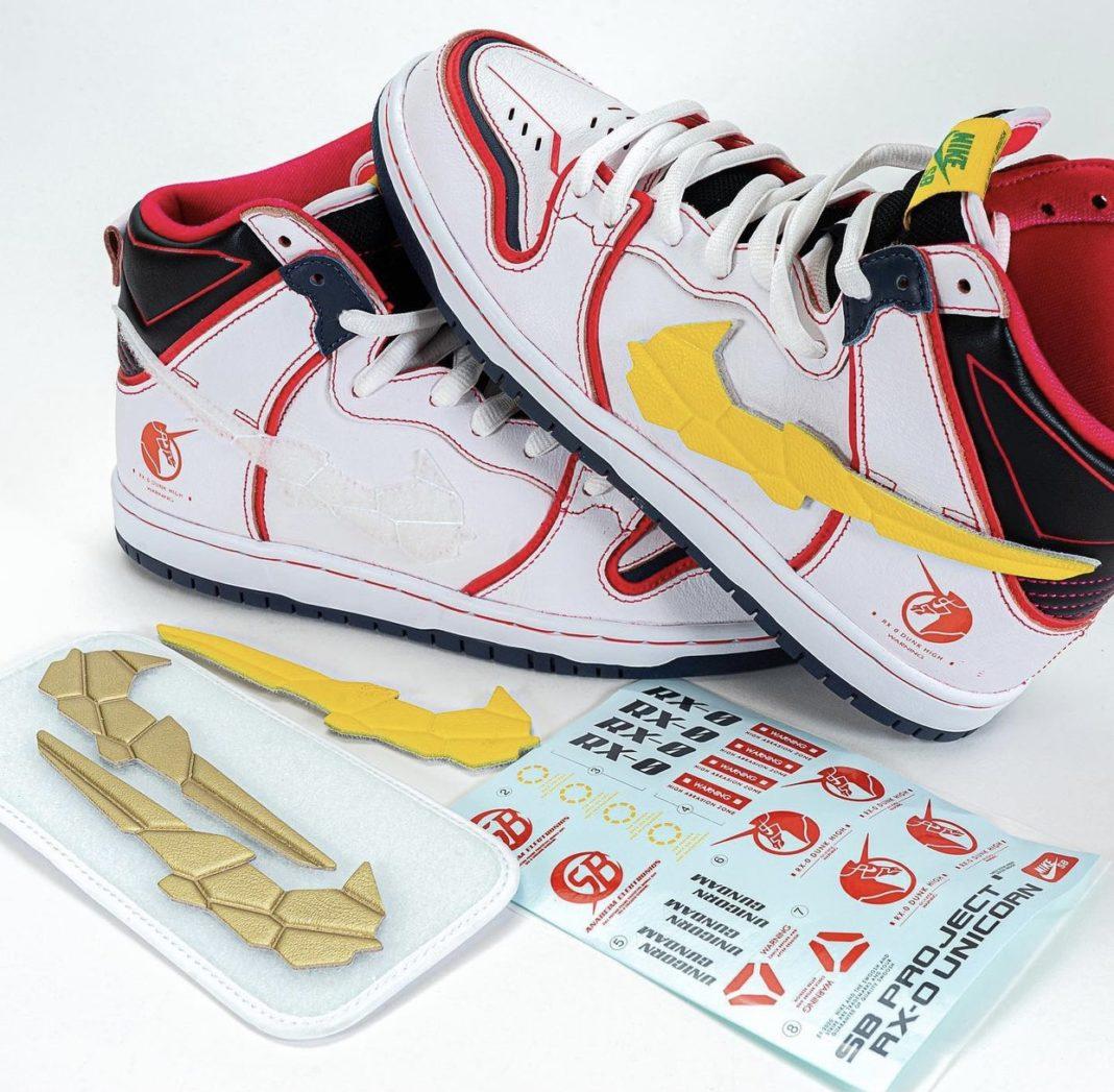 Nike,机动战士高达,高达,Dunk SB,独角兽  Nike 高达模型提前偷跑!高达 Dunk SB 联名即将发售!