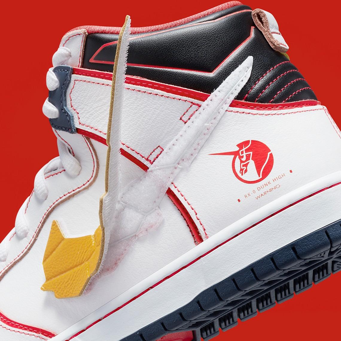 高达,Nike,Dunk SB Hi  胶佬狂喜!高达 x Dunk SB 发售日期有了!完整官图曝光!