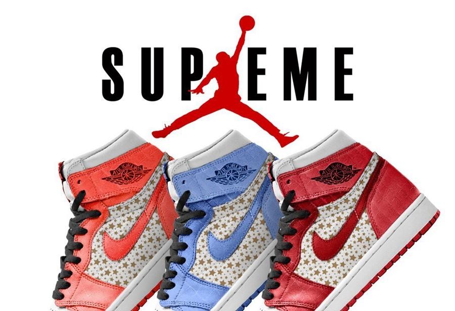 Supreme,AJ1,Air Jordan 1  这样的设计肯定能火!全新 Supreme x AJ1 太帅了!