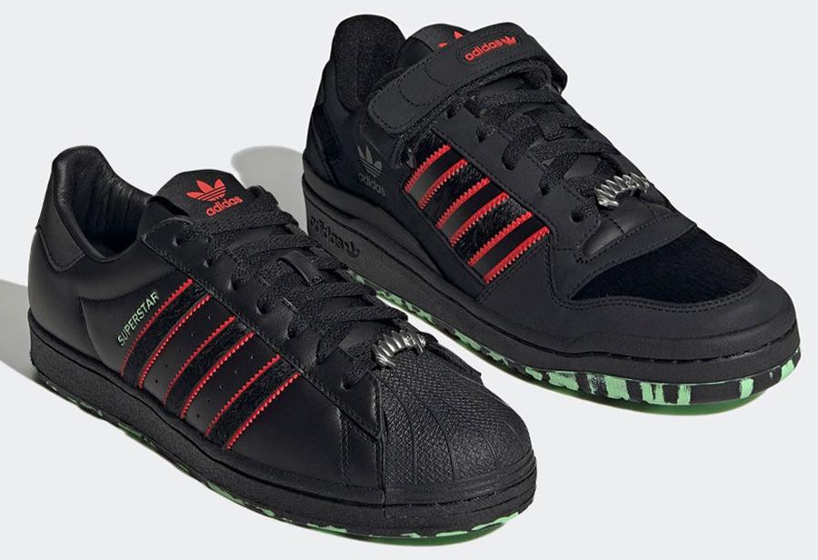 adidas,Superstar,Forum Low,GW8  血盆大口太浮夸!全新 adidas 万圣节套装官图曝光!