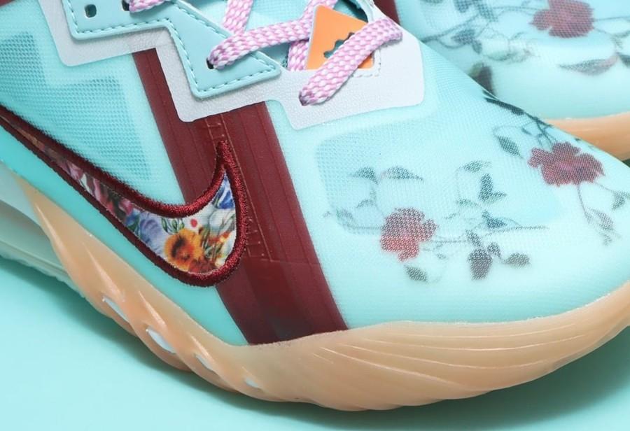 Nike,LeBron 18 Low,Floral,CV75  高颜值花卉点缀!全新配色 LeBron 18 Low 实物曝光!