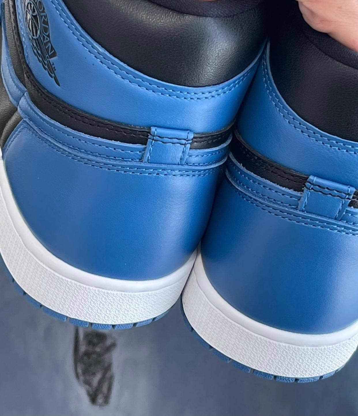 AJ,Air Jordan 1 High OG,Dark M  OG 气息浓郁!全新「皇家蓝 2.0」Air Jordan 1实物曝光!